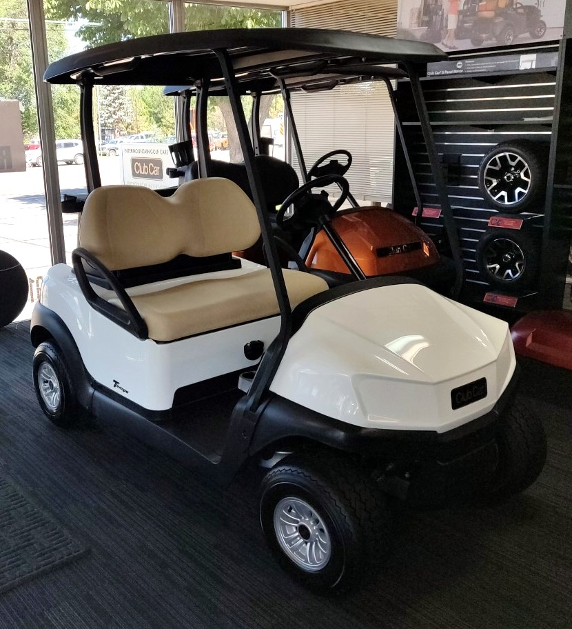 Brand New 2020 White Club Car Tempo 48V Electric