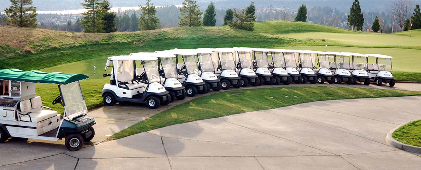 600+ golf cars available
