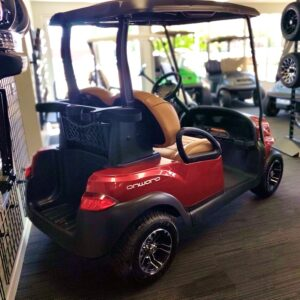 New 2020 gas-powered Club Car Onward, metallic red