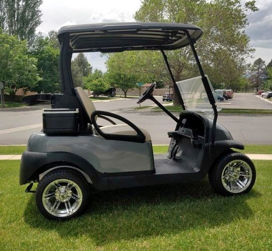 Upgraded Platinum Gray GAS Precedent Golf Cart