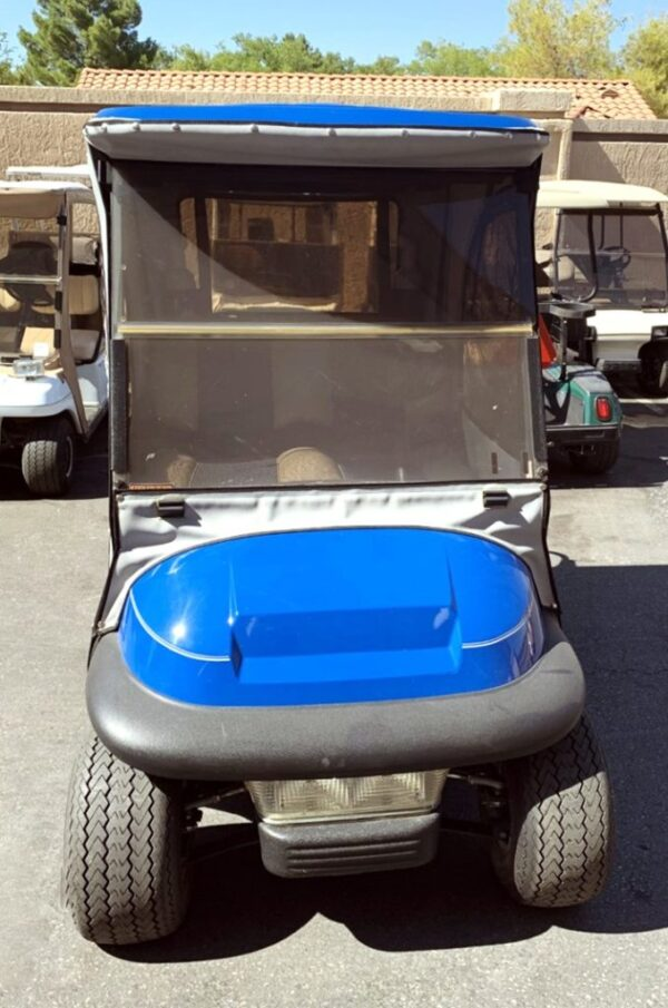2007 Club Car Blue Precedent Electric Golf Cart w/ Enclosure
