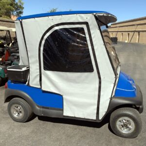 -SOLD- 2007 Club Car Blue Precedent Electric Golf Cart w/ Enclosure -SOLD-
