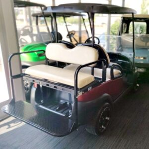 Refurbished 2015 Four-Passenger Custom Red Club Car Precedent 48V Electric Golf Cart