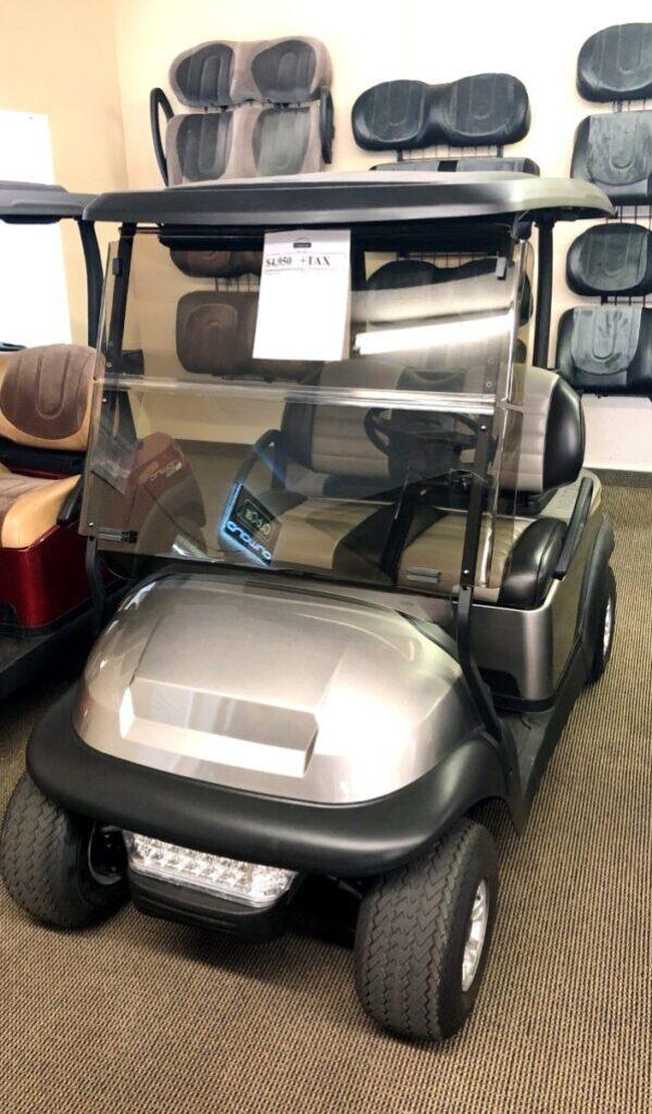 Gorgeous Metallic Silver Club Car Precedent 48-volt Electric Golf Cart