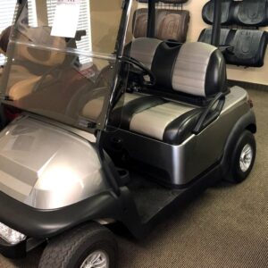 Gorgeous Metallic Silver Club Car Precedent 48-volt Electric Golf Cart