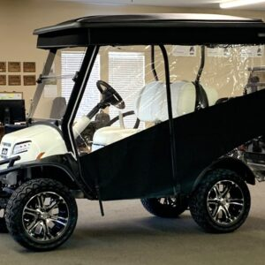Glacier White 4-Passenger Club Car ONWARD Golf Car with Lithium Ion Batteries and a Factory-installed ONWARD Enclosure
