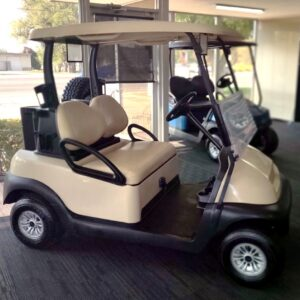 Gorgeous Beige Club Car Precedent 48-V Electric Golf Cart