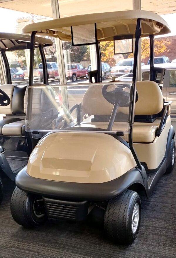 Gorgeous Beige Club Car Precedent 48-V Electric Golf Cart