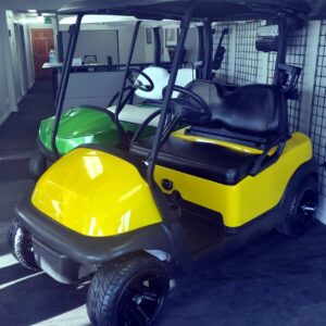 Gorgeous Refurbished Custom Canary Yellow Club Car Precedent Electric Golf Cart