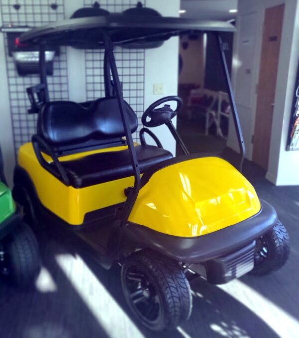 Gorgeous Refurbished Canary Yellow Club Car Precedent Electric Golf Cart