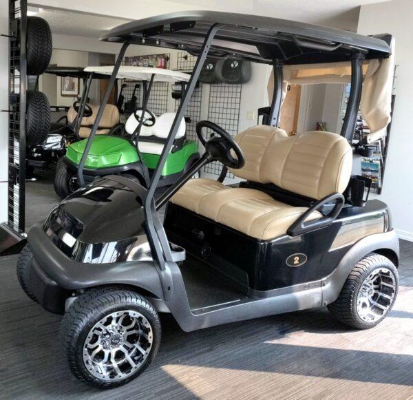 Beautiful 2017 Black Club Car Precedent Electric Golf Cart