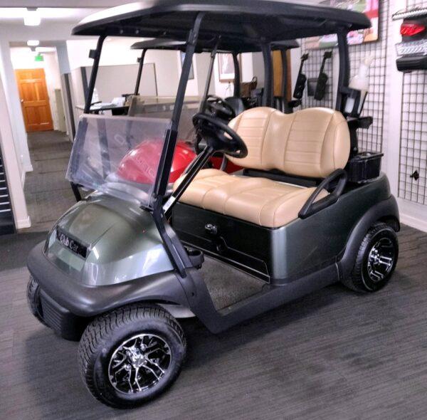 Refurbished & Customized 2016 Sage Green Club Car Precedent 48V Electric Golf Cart