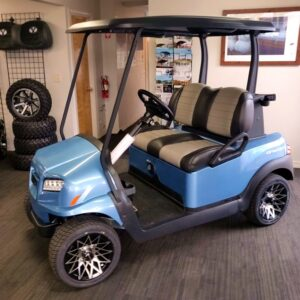 Beautiful New 2021 Metallic Ice Blue Club Car ONWARD Gas-powered Golf Cart