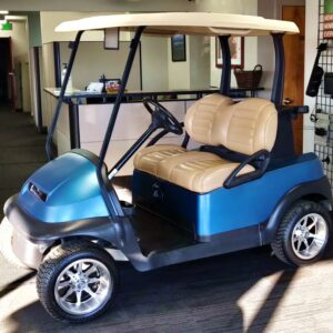 Gorgeous Refurbished Custom Blue Club Car Precedent GAS Golf Cart