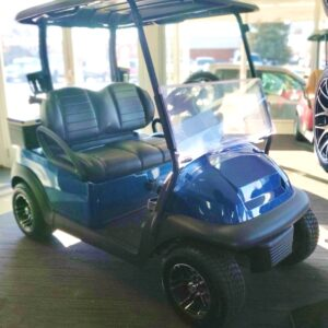 Refurbished and Customized 2016 Custom Metallic Blue Club Car Precedent 48V Electric Golf Cart