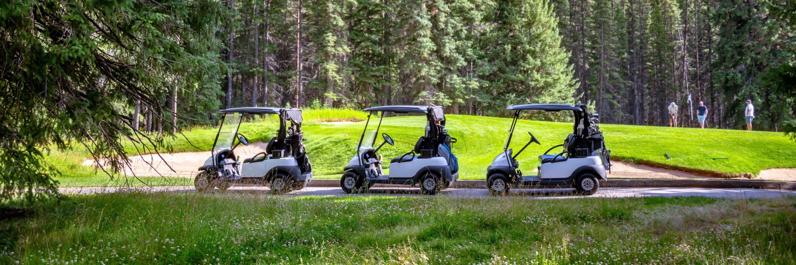 Club Car Golfing