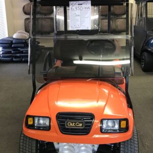 Custom Refurbished Tiger Orange Precedent Phantom Electric Golf Cart