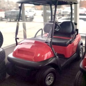 Custom Refurbished Electric Candy Apple Red Club Car Precedent Golf Cart