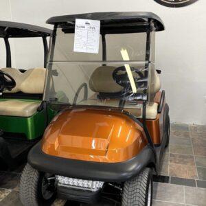 Refurbished and Upgraded Tangerine Orange Club Car Precedent 48V Electric Golf Cart