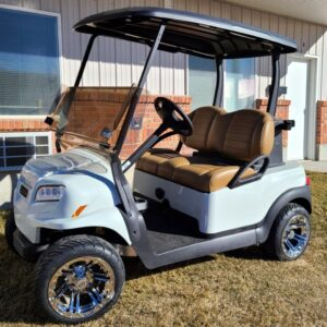 Beautiful New 2021 Metallic Glacier White Club Car ONWARD Electric Golf Cart w/ 8-year Lithium-ion Batteries!