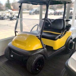 Professionally Refurbished Custom Bumble Bee Yellow 2018 Club Car Precedent 48-V Electric Golf Cart