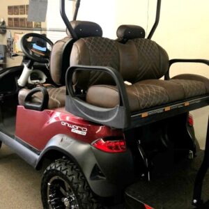 New 2021 Club Car Metallic Candy Apple Red ONWARD 4-Passenger Golf Cart with Lithium-ion Batteries